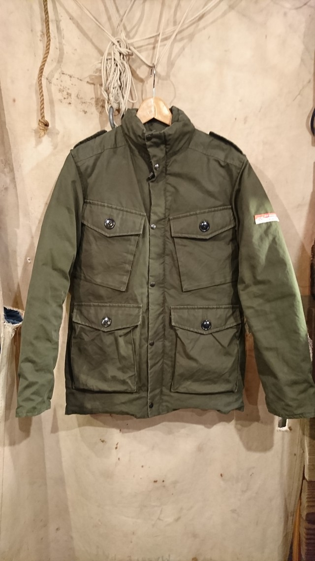 PETER HUTCHINSON VENTILE MILITARY DESIGN DOWN JACKET MADE IN ENGLAND