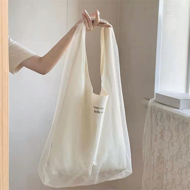 over tulle big tote