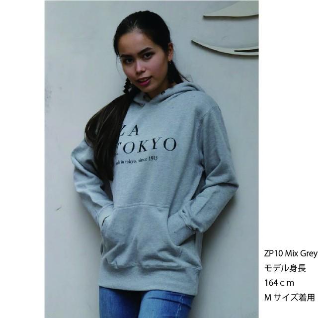 ZA TOKYO 30/10裏毛スウェット フロントロゴPt.パーカー ZP10