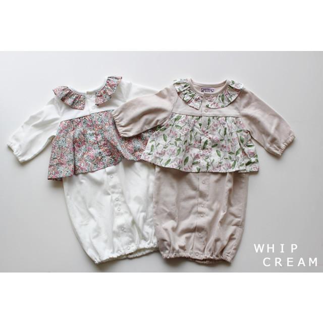 【WHIP CREAM】312004 木の実/花柄プリント2WAYドレス 50-60㎝