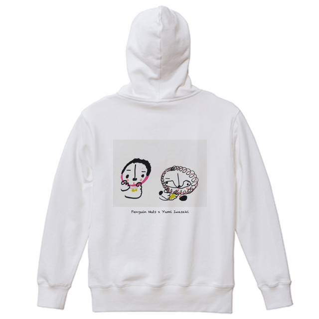 【Penguin Nuts × Yumi Iwasaki】パーカーホワイト