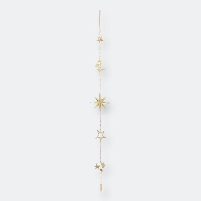 Ariana Ost Herkimer Diamond Star Wall Hanging 月のモチーフのウォールハンギング