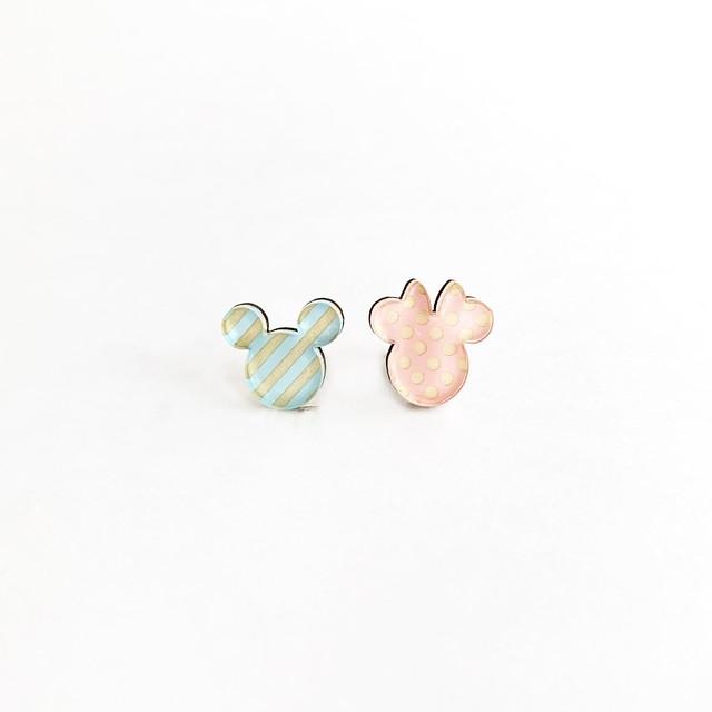 ミッキー&ミニー / ピアス