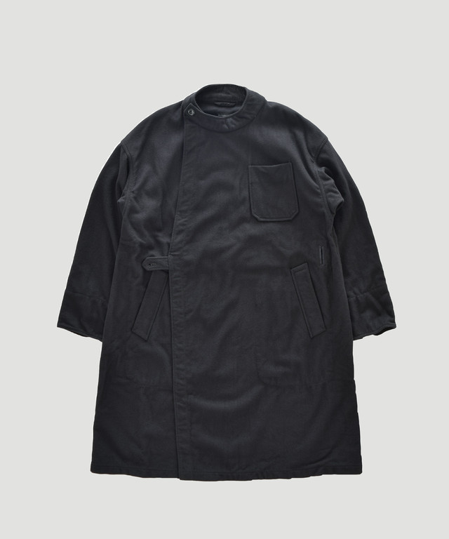Engineered Garments EG MG Coat Melton Wool Black FG270