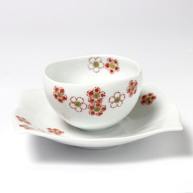 小煎茶セット 紅白梅
