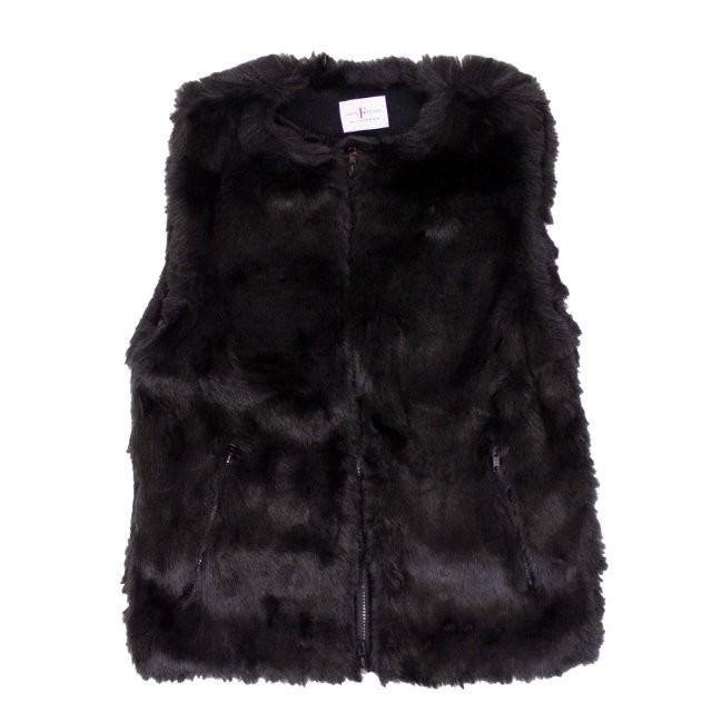 FARFIELD Fur Vest | フェイクファー ノーカラー ベスト 【FARFIELD ファーフィールド】