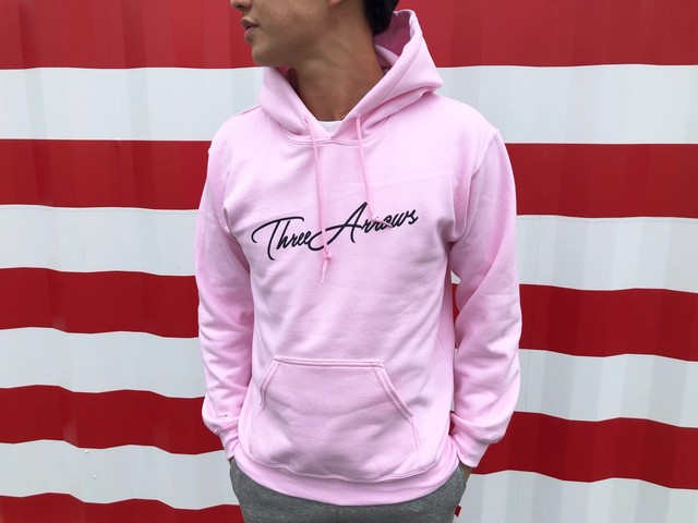 ThreeArrows パーカー(pink × black)