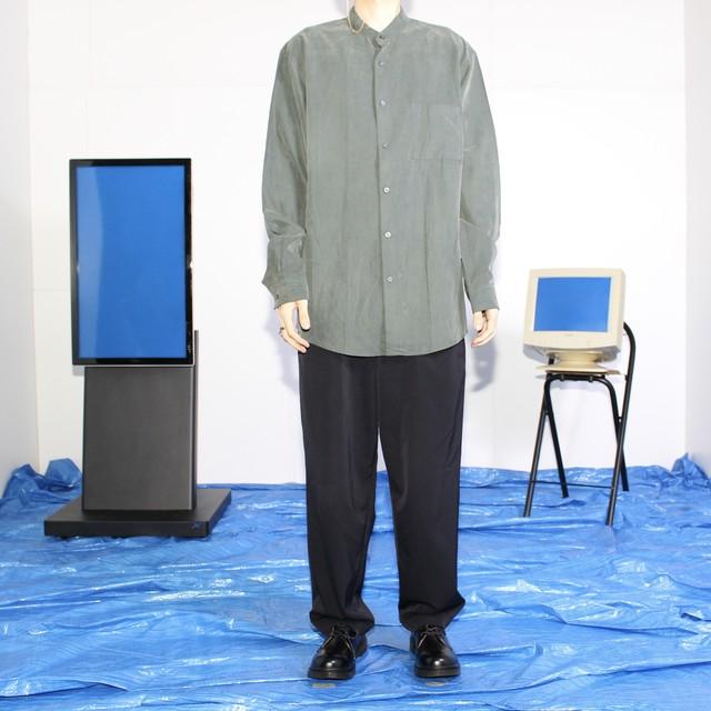 fake suede big shirt