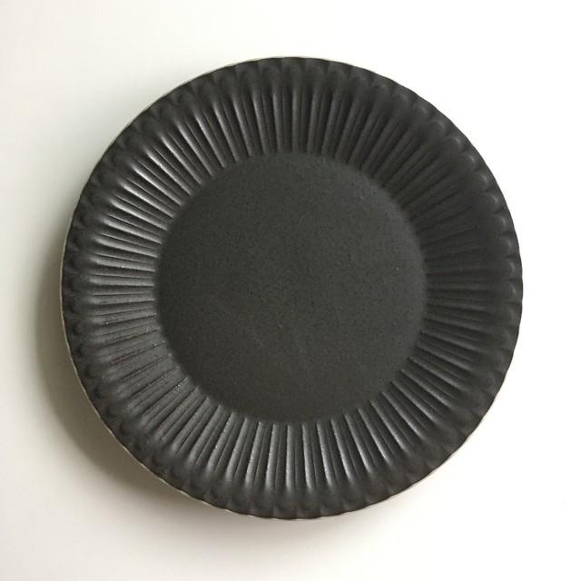 シュシュ・グレース 20cm皿 クリスタルブラック[美濃焼]