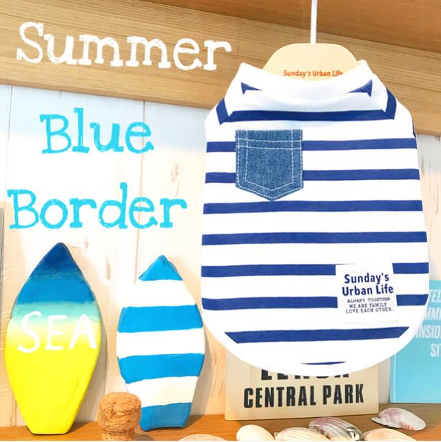 ボーダーTシャツ 【BLUE】