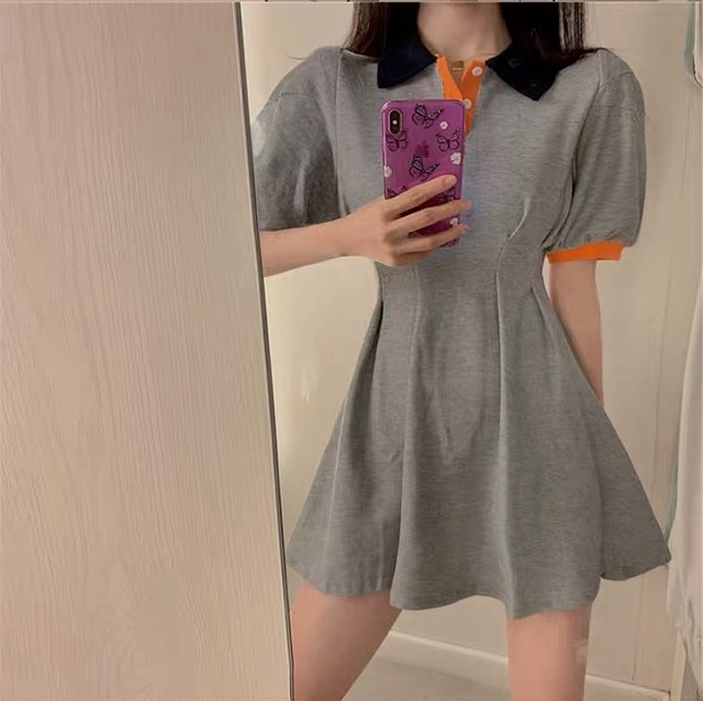 by color polo dress
