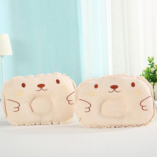 【小物】カワイイアニマル柄フリルコットン新生児枕25074307