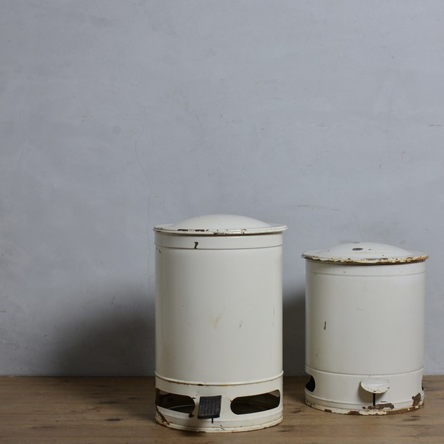 Garbage Can / ガーベッジ カン〈ゴミ箱・ダストボックス・ホーロー・琺瑯・店舗什器・アンティーク・ヴィンテージ〉112112