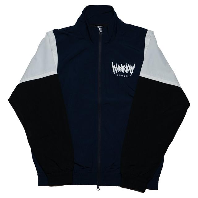MARRION APPAREL トラックジャケット (紺×白×黒)