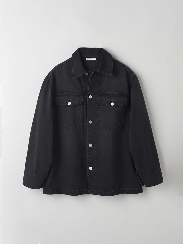 OUR LEGACY NEW WORK JACKET COAL COTTON Black M2201NC
