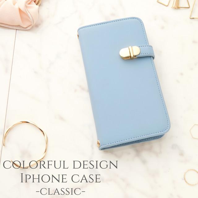 iphone SE(第二世代) ケース 手帳型 ミラー付き おしゃれ iphone 11 pro カバー 手帳 大人 可愛い iphoneXR iphone8 7 Xs シンプル アイフォン se2 かわいい スタンド マグネットなし パステルブルー