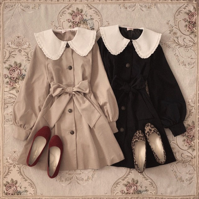 【meltie】original mignon collar coat
