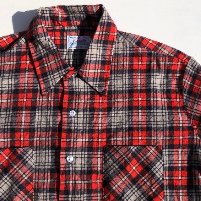 """USED PARMANENT PRESS by Dolin """"Print Light Flannel Shirts"""""""
