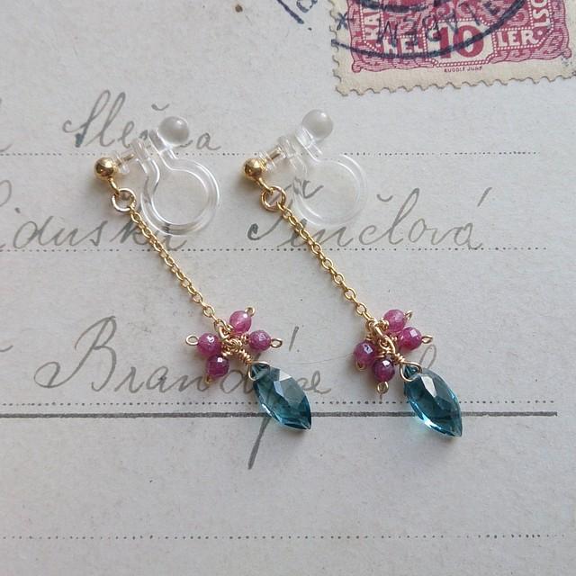宝石質ロンドンブルートパーズ&ルビー《Resina》