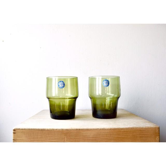 【タンブラーグラス】老緑 佐々木硝子 ハンドメイド デッドストック 未使用品