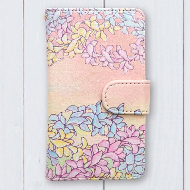 Hawaiianpaint KAN 手帳型スマホケース[全機種対応 M / 全機種対応 L]