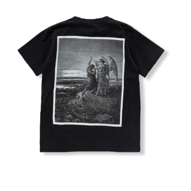"T-shirt ""Jacob Wrestles with the Angel"" BLACK"