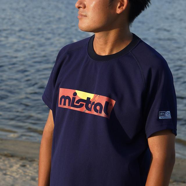 ミストラル ユニセックス【HP-DRY(ハイドロフォビックドライ)半袖Tシャツ - ミストラルサンセット -】NAVY