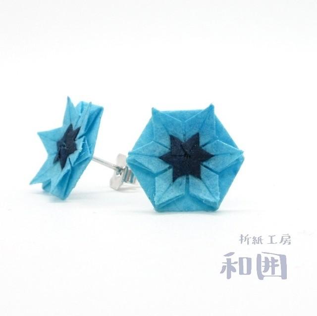 夏色☆花たとうのピアス(小)[本ロジウム]【003】