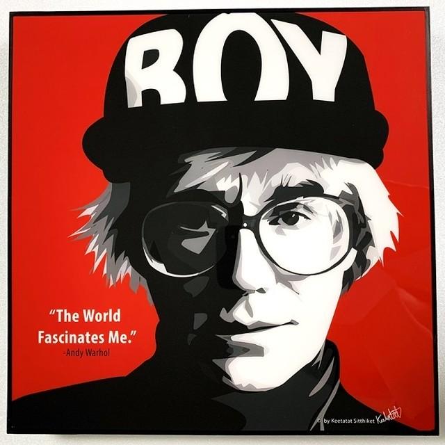 Andy Warhol (1) / アンディ ウォーホル「ポップアートパネル Keetatat Sitthiket」ポップアートフレーム ボード グラフィック 絵画 壁立て 壁掛けインテリア 額 ポスター プレゼント ギフト インスタ バナナ キャンベルのスープ缶 画家 芸術家 キータタットシティケット