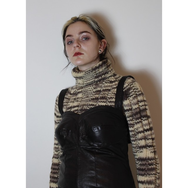 Brown Mixed Sweater