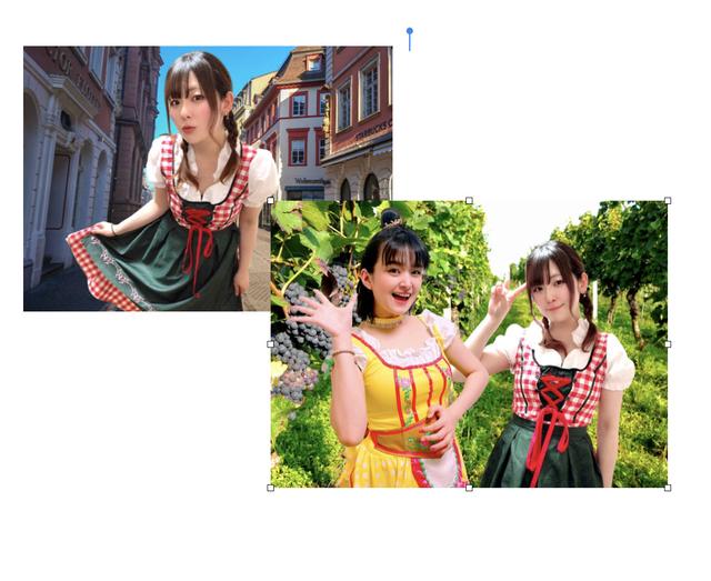 【宛名指定OKサイン入】大久保前田の世界旅行ドイツ編2L写真2枚セット