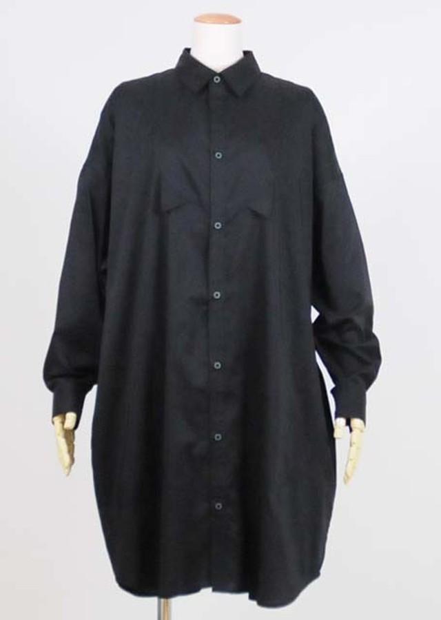 ネコミミロングシャツ BK