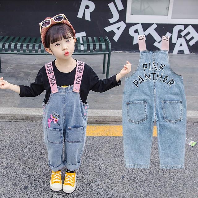 【ボトムス】配色デニム女の子カジュアルオシャレサロペット25197081