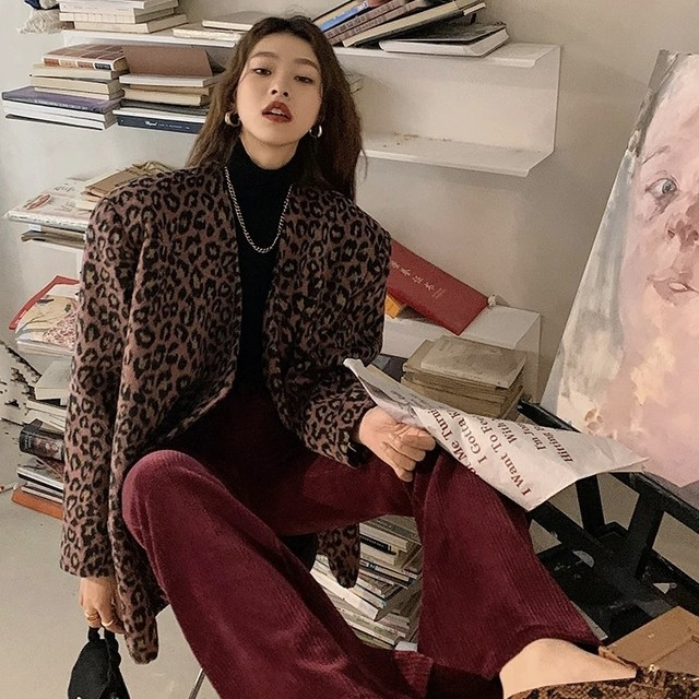 leopard tailored jacket