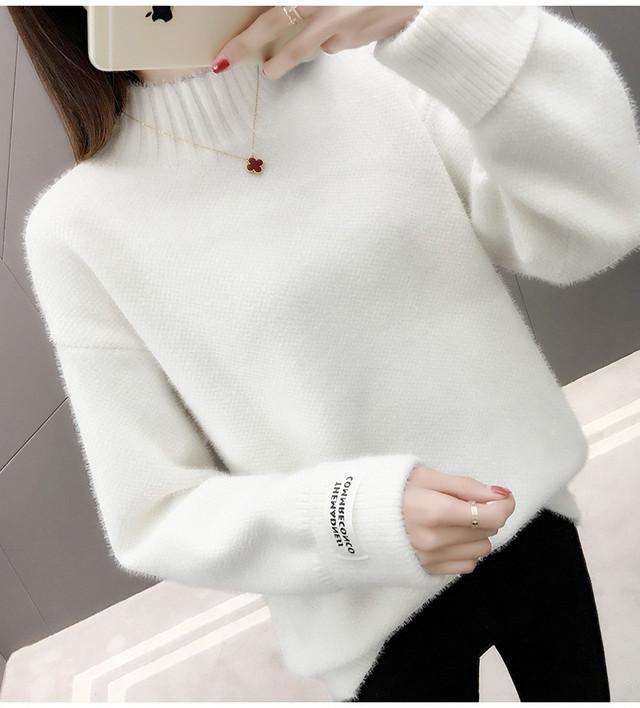 カットハイネックセーター