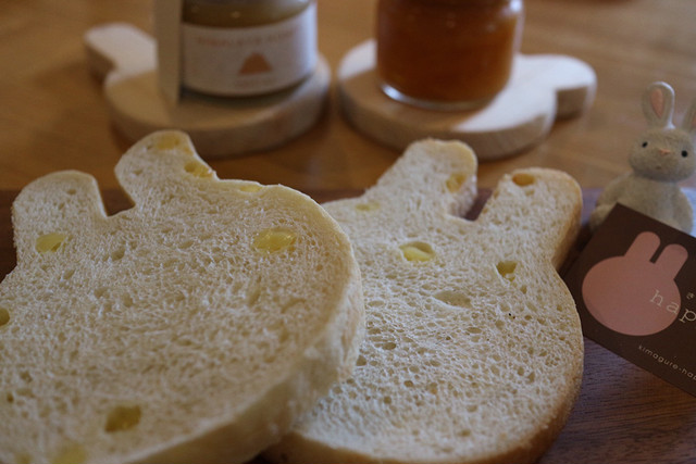 ふんわりチーズうさぎ食パン