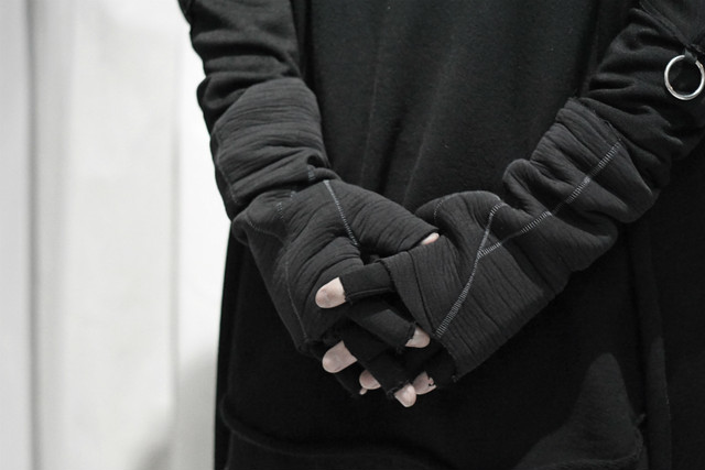 thom krom / Layered gloves / BLK