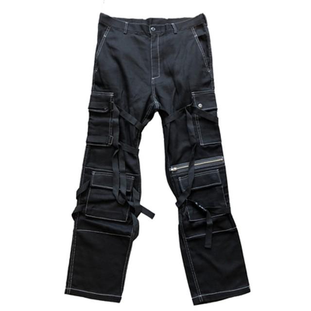 ROGIC MULTIPLE PANTS BLACK/WHITE