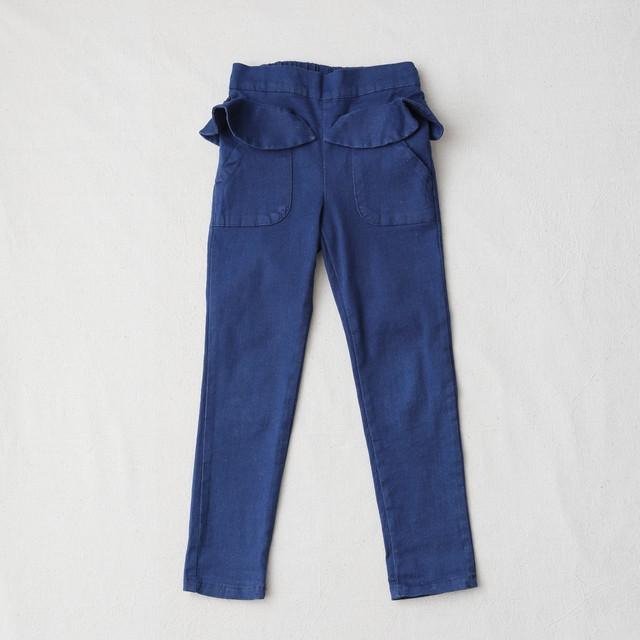 ぺプラム・リボン付きスキニ―パンツ