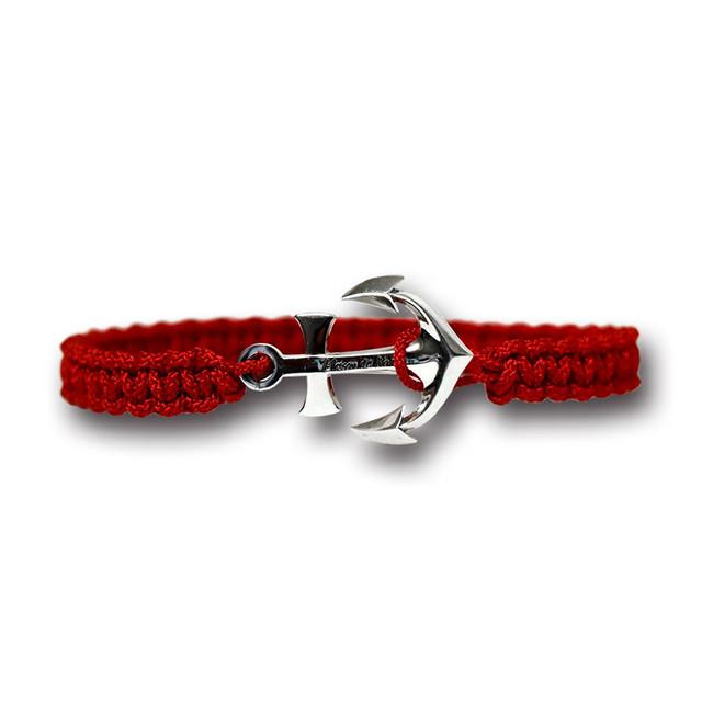 【メール便送料無料/翌日発送】Anchor Bracelet Large Red【品番 19S2004】