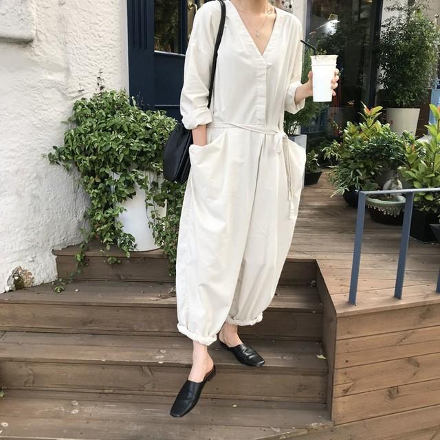 韓国ファッション オールインワンパンツ 2色 RPPANT081301