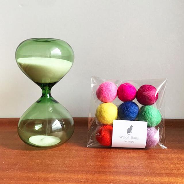 Wool Balls cat toy 猫のおもちゃ 猫用 フェルトボール キャンディカラー 9カラーパック
