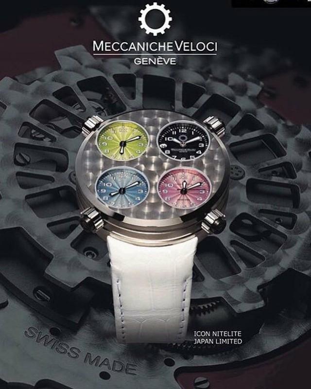 日本限定品【MECCANICHE VELOCI】メカニケ・ヴェローチ アイコン ナイトライト ホワイト ICON NITELITE WHITE  /スイスメイド腕時計