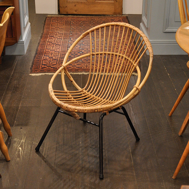 French Rattan Low Chair / フレンチ ラタン ローチェア / 1911-0125