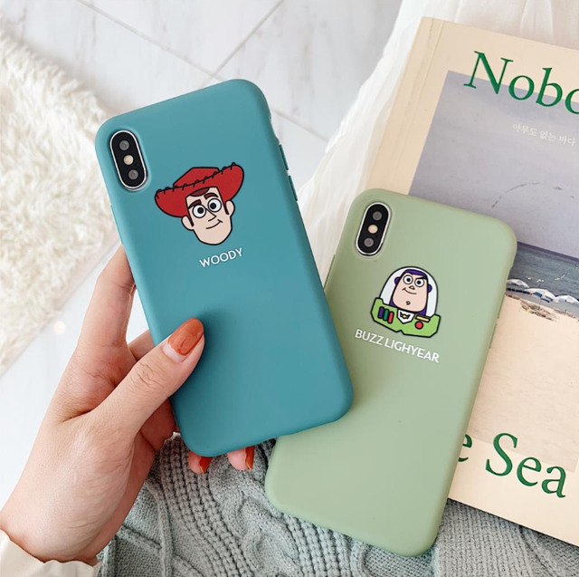 【オーダー商品】 Cartoon green blue iphone case