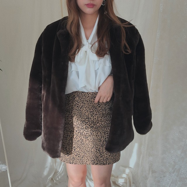 ♡bear fur coat