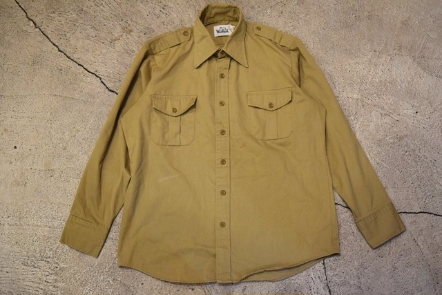 USED 70s Woolrich L/S shirt  -Large S0622