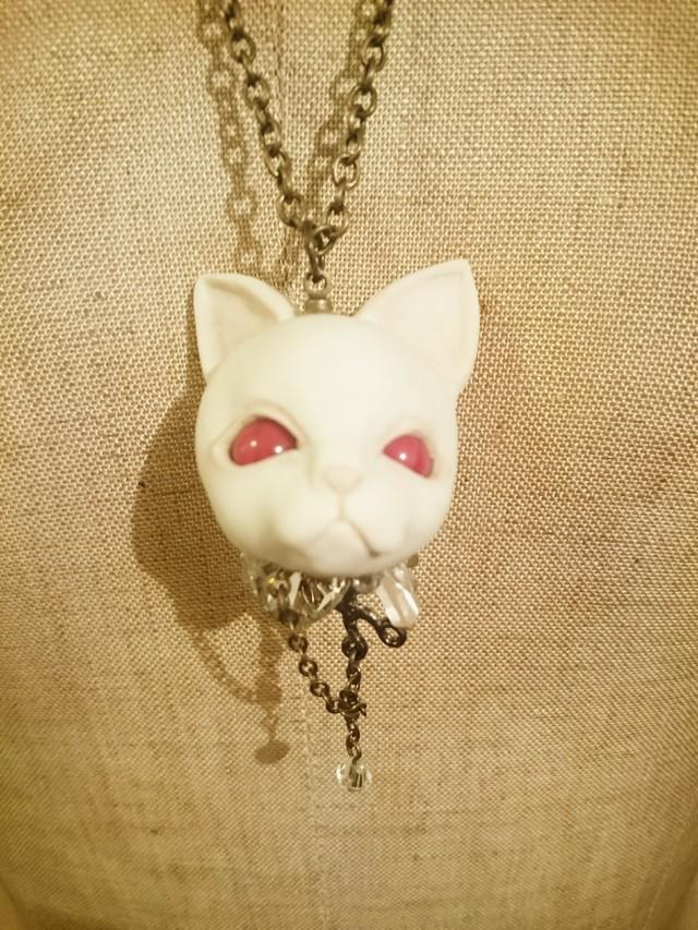 Silver Star~銀星堂~ / 白猫ネックレス / 赤目
