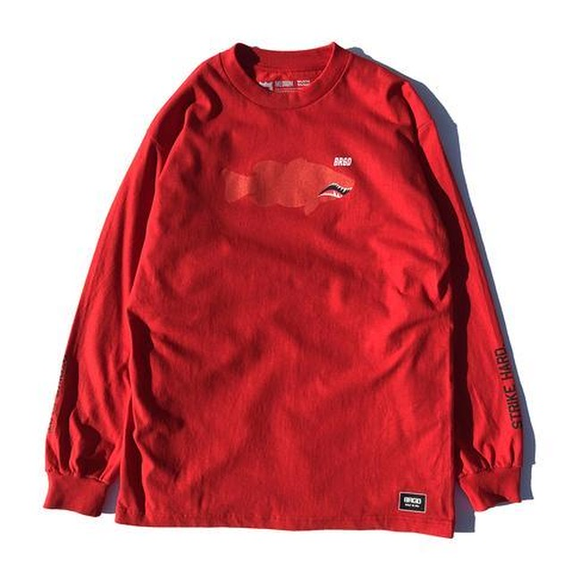 FIGHTER LUNKER L/S TEE  - RED -