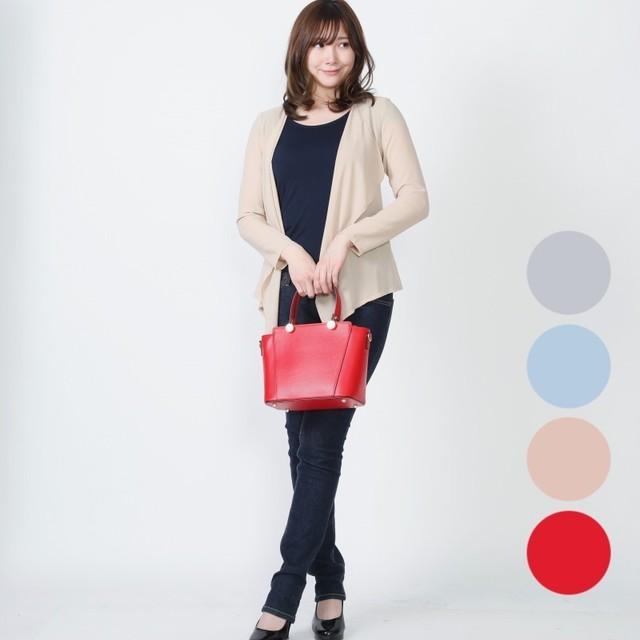 【イタリア製】2WAYバッグ 赤・ピンク・ 水色 ・グレー